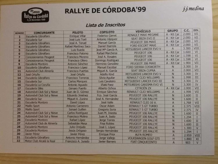P3 Lista de inscritos Rallye de Córdoba copia